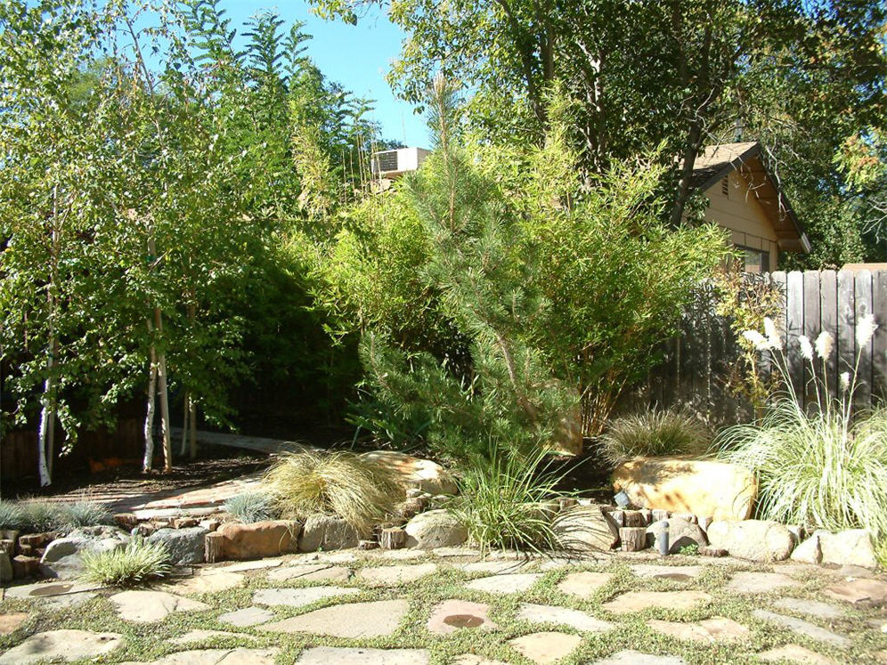 Flagstone Patio Backyard